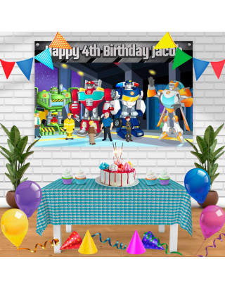 Transformer 2 Birthday Banner Personalized Party Backdrop Decoration