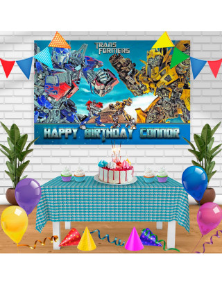TRANSFORMER3 Birthday Banner Personalized Party Backdrop Decoration