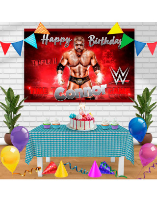 TRIPLE H Birthday Banner Personalized Party Backdrop Decoration