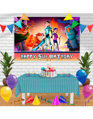 trollhunters2 Birthday Banner Personalized Party Backdrop Decoration