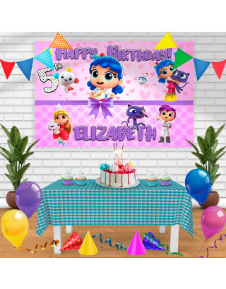 True and the Rainbow Kingdom Birthday Banner Personalized Party Backdrop Decoration