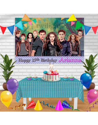 Twilight Birthday Banner Personalized Party Backdrop Decoration