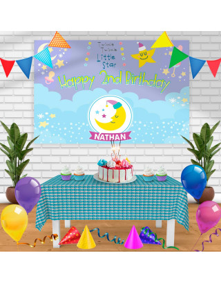 Twinkle little start Birthday Banner Personalized Party Backdrop Decoration