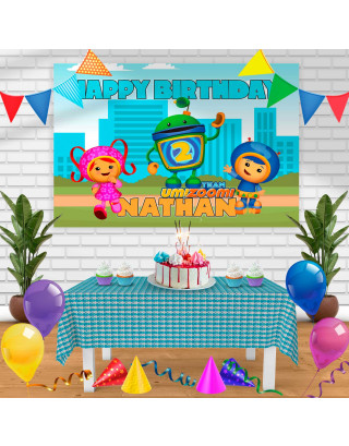 umizoomi 1 Birthday Banner Personalized Party Backdrop Decoration