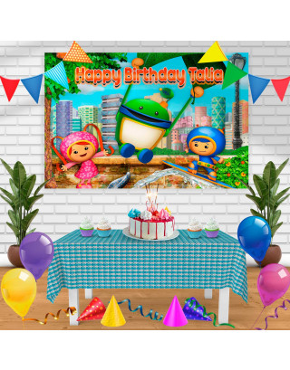 umizoomi Birthday Banner Personalized Party Backdrop Decoration