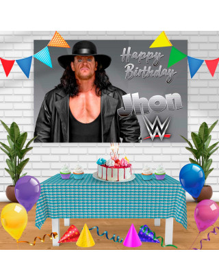 UNDERTAKER Birthday Banner Personalized Party Backdrop Decoration