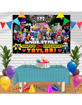 UNDERTALE Birthday Banner Personalized Party Backdrop Decoration