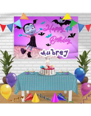 Vampirina 2 Birthday Banner Personalized Party Backdrop Decoration