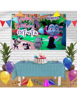 Vampirina Birthday Banner Personalized Party Backdrop Decoration