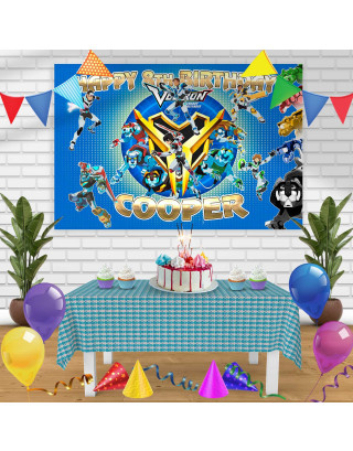VOLTRON 2 Birthday Banner Personalized Party Backdrop Decoration