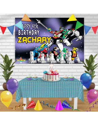 voltron Birthday Banner Personalized Party Backdrop Decoration