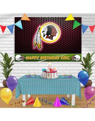 Washington Redskins Birthday Banner Personalized Party Backdrop Decoration