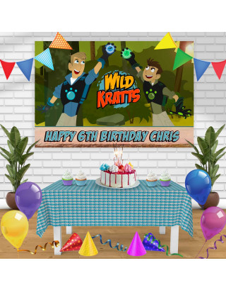 wild kratts Birthday Banner Personalized Party Backdrop Decoration