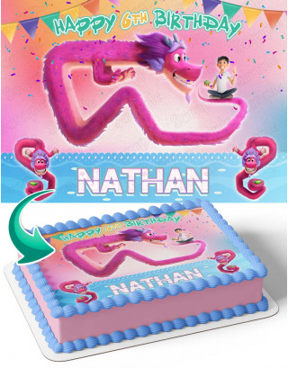 Wish Dragon Movie Edible Image Cake Topper Personalized Birthday Sheet Decoration Custom Party Frosting Transfer Fondant