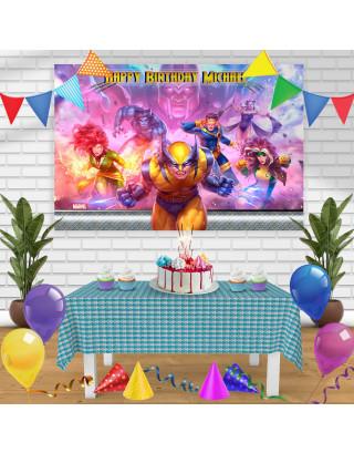 Wolverine X men Birthday Banner Personalized Party Backdrop Decoration