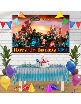 world of warcraft Birthday Banner Personalized Party Backdrop Decoration