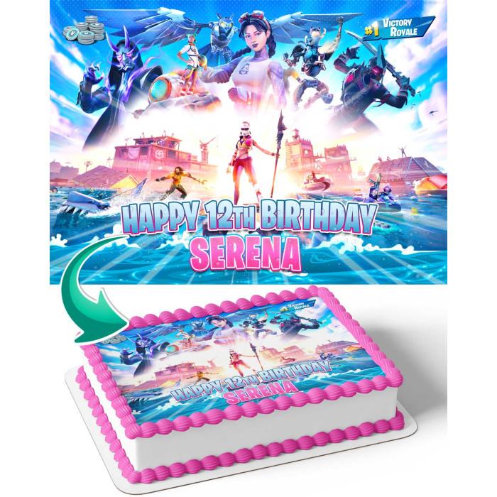 Fortnite Rl Birthday Cakes Fortnite Pink Girl 2021 Edible Cake Toppers