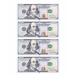 20 Precut 1 Dollar Bill Edible Money Image Wafer Paper for Cake Decorating Cu...