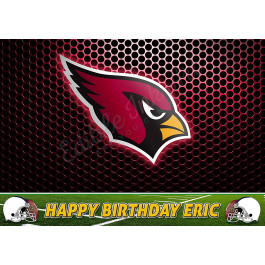 Arizona Cardinals NFL Edible Image Cake Topper Personalized Birthday Sheet Decoration Custom Party Frosting Transfer Fondant