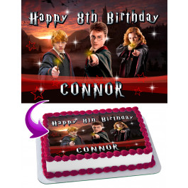 """Harry Potter Personalised Cake Topper 7.5/"""" Edible Wafer Paper"""