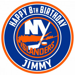 New York Islanders Edible Image Cake Topper Personalized Birthday Sheet Decoration Custom Party Frosting Transfer Fondant Round Circle